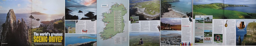 Seven-page travel feature on the incredible 1700-mile Wild Atlantic Way